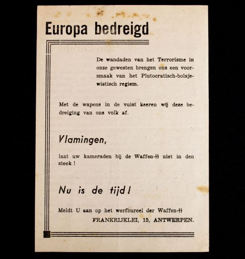 Flemish Waffen-SS - recruitment pamphlet
