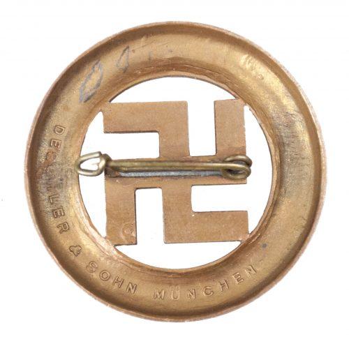 Gau Munich Festabzeichen der Gedenkfeier 1933