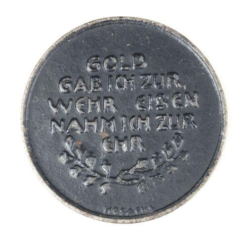 """""""Gold gab Ich Für Eisen"""" non portable medal"""