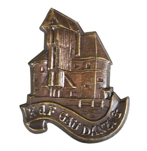 Kraft durch Freude (KDF) Gau Danzig badge
