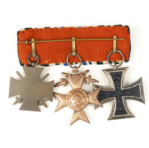 Medalbar / Ordensspange Bayern (Bavaria) with Ek2, Militär Verdienstkreuz + FEK