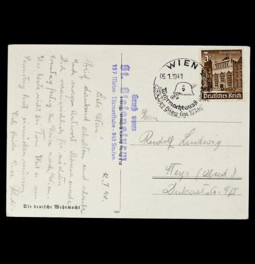 Postcard: Gottfried Klein - Infanterie (postally sent)