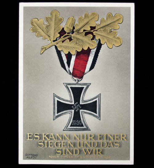 """Postcard Gottfried Klein: """"Iron Cross"""" Es kann nur einer siegen und das sind wir!"""