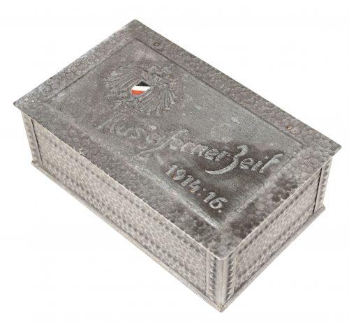 """WWI German Patriotic Iron Box -> """"Aus Eisernes Zeit"""" 1914:16"""