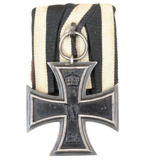 WWI Iron Cross second class single mount (Ek2 Einzelspange) maker SW.