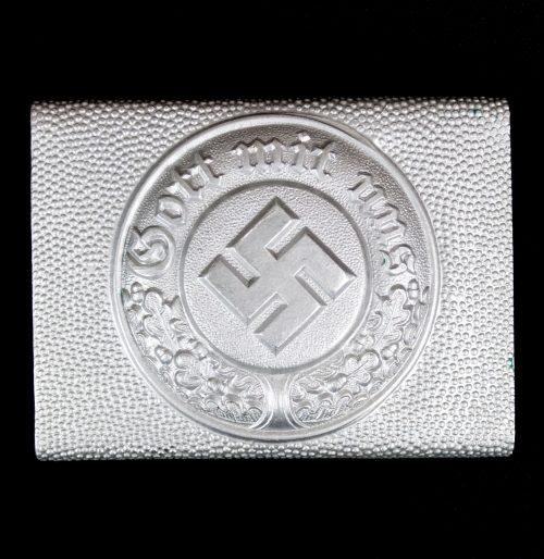 WWII German Police buckle / Deutsche Polizei koppelschloss STONE MINT!