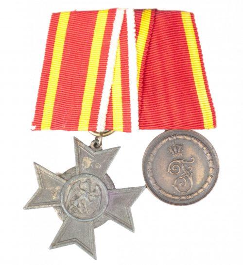 Baden medalbar with Baden Kriegsverdienstkreuz + Treue Dienst