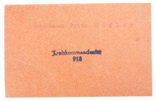 "Belgium De Vlag entrance ticket for ""Wehrmachtsangehörigen"""