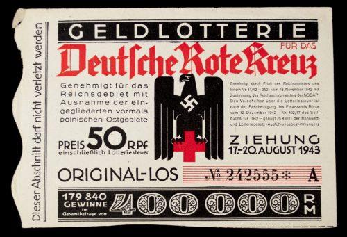DRK Lottery Ticket - Geld Lotterie für das Deutsche Rote Kreuz (1943)