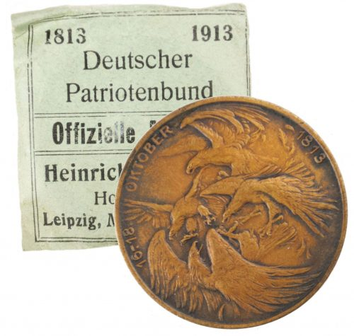 Deutscher Patriottenbund official non-portable medal with enveloppe 1913