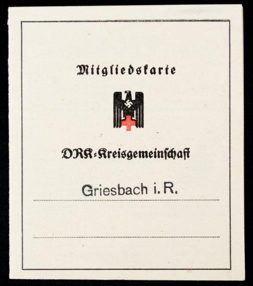 Deutsches Rotes Kreuz (DRK) Mitgliedskarte DRK-Kreisgemeinschaft Griesbach I.R.