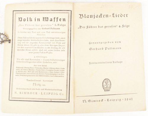 N. Simrock, Blaujacken Lieder, Der Fuhrer hat Gerufen (1941)