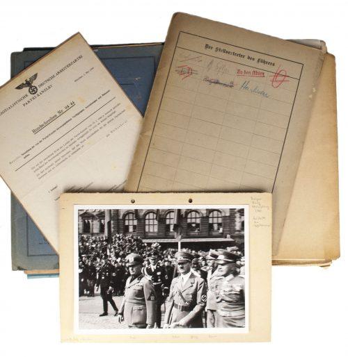 Original manuscript Martin Bormann & Rudolf Hess