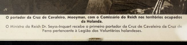 Press image: Knightscross recipient Gerard Mooyman visiting Seyss-Inquart (Portugese Bilderbericht)