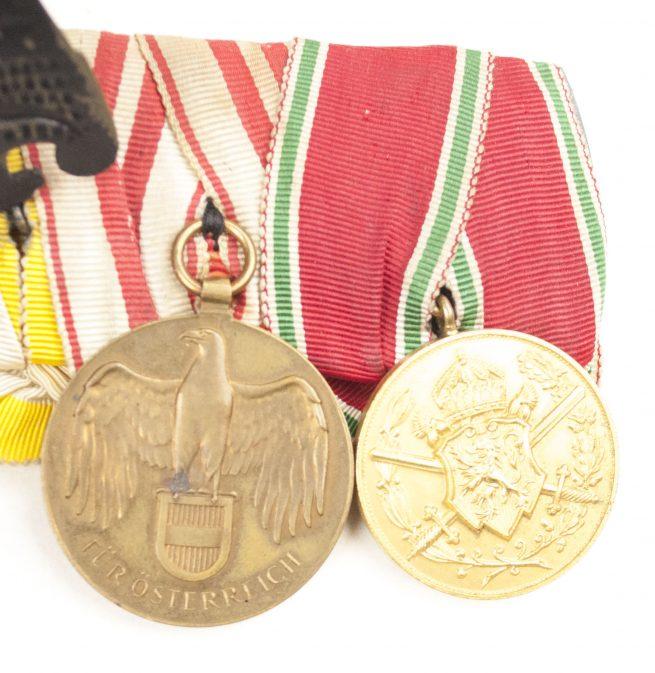 WW2 German police Medalbar with EK2, Police long service cross, Schlesischer Adler...