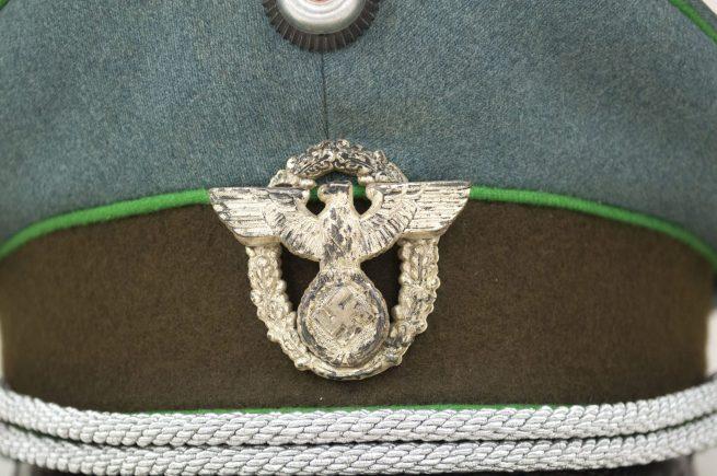 WWII German Police officers visor cap / Schirmmütze für einen Offizier der Polizei