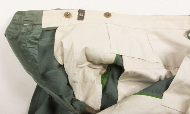 WWII German Schutzpolizei green straight legged trousers