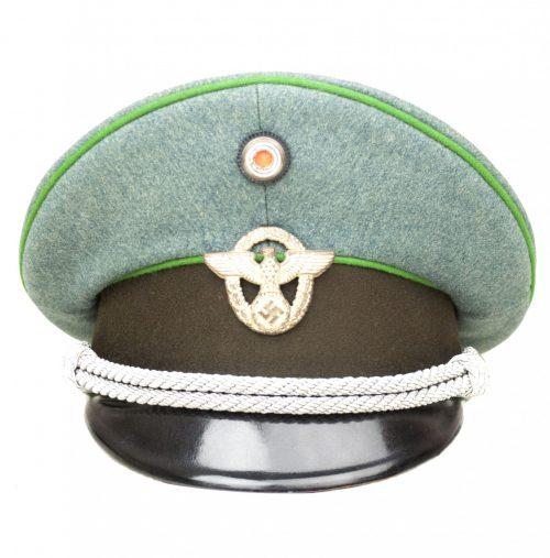"""WWII German """"Schutzpolizei"""" officers visor cap / Schirmmütze für einen Offizier der Polizei"""