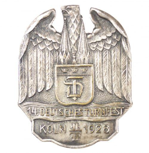 14. Deutsches Turnfest Köln 1928 abzeichen