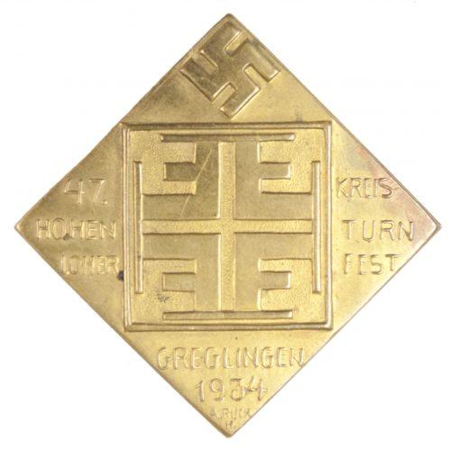 47. Kreisturnfest Hohenloher Greglingen 1934