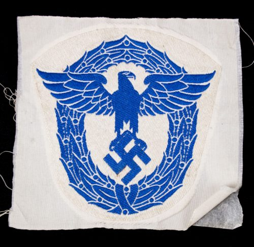 WWII German police / polizei blue sportshirt patch