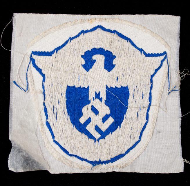 WWII German police / polizei blue sportshirt patch