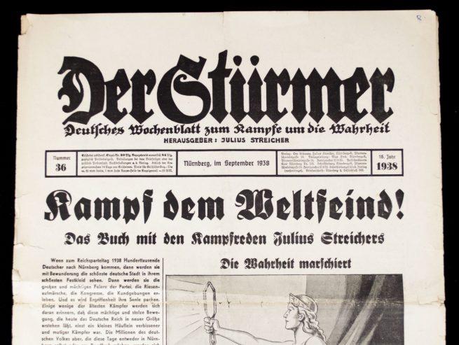 Der Sturmer (Julius Streicher) Nummer 36 (1938)
