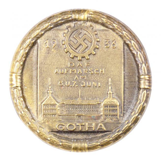 Deutsche Arbeitsfront DAF Aufmarsch am 6.u.7. Juni 1936 Gotha abzeichen