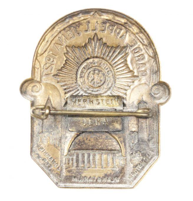 Garde Appell Jena 1927 badge (maker Wernstein)