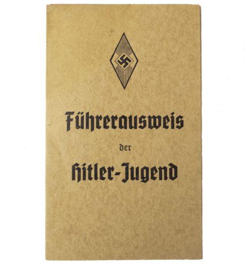 Hitlerjugend (HJ) Fuhrerausweis der Hitlerjugend