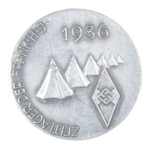 Hitlerjugend (HJ) - Zeltlager der Frankische HJ 1936 abzeichen