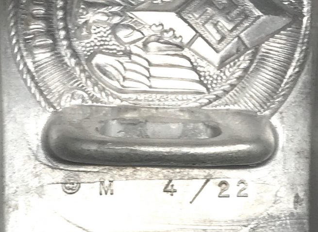 Hitlerjugend (HJ) unissued buckle with RZM tag (M4/22 by C.D. Dicke)