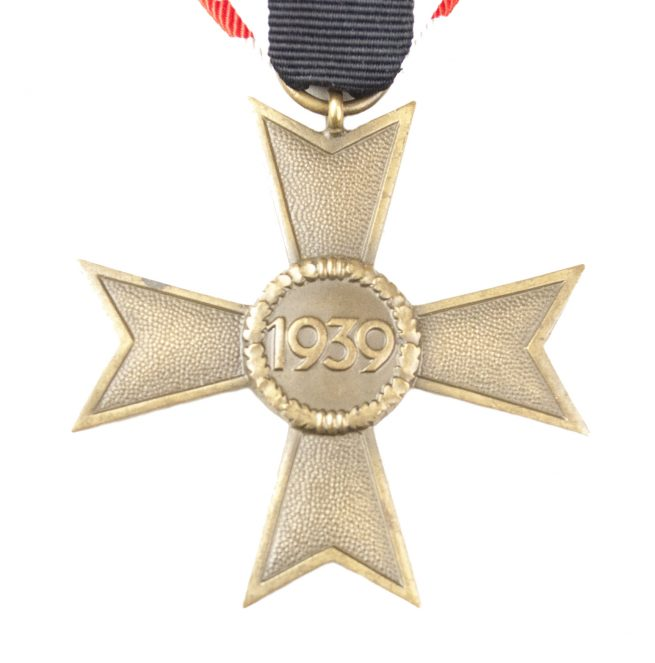 Kriegsverdienstkreuz without swords (KVK – War Merit cross without swords) on long ribbon