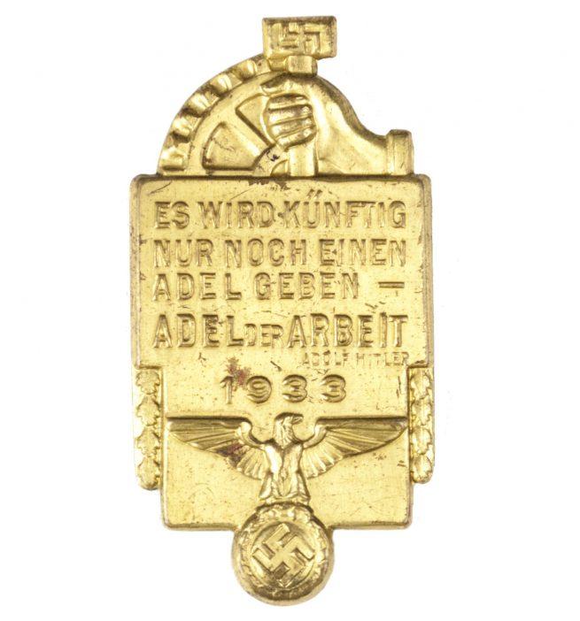 """NSBO Tag der Arbeit 1933 """"Es wird Künftig nur noch einen Adel geben - Adel der Arbeit Adolf Hitler 1933"""""""