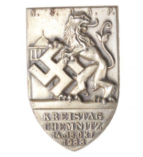 NSDAP Kreistag Chemnitz 14. u. 15. Okt. 1938 abzeichen