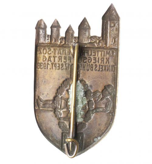 NSKOV 1. Mittelfrankische Nationalsozialistische Kriegsopfertag Dinkelsbühl 17. Sept. 1933