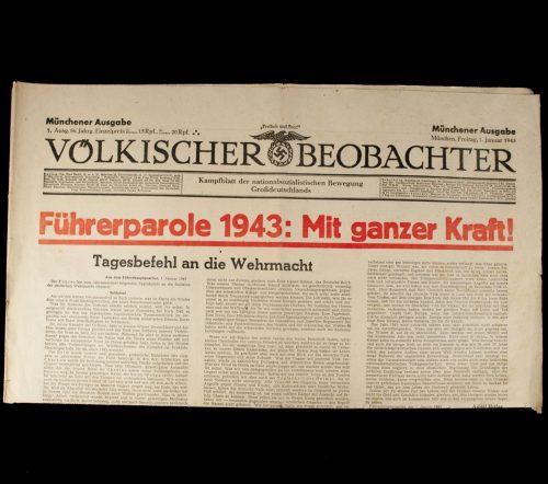Newspaper Völkischer Beobachter München 1 Januar 1943