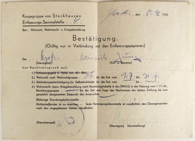Organisation Todt Dienstbuch with passphoto
