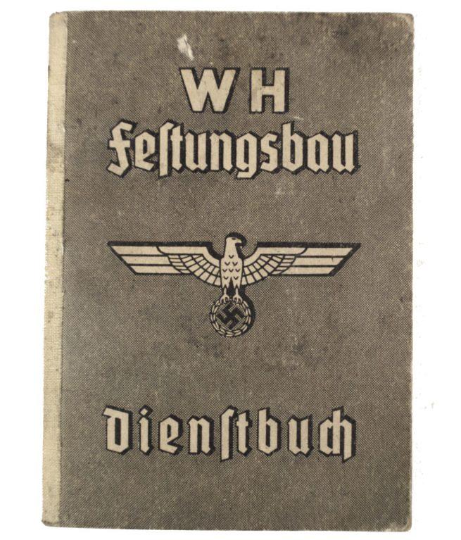 Organisation Todt: WH Festungsbau Dienstbuch with passphoto