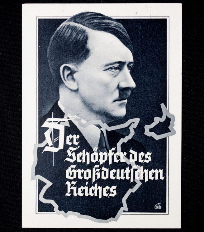 Postcard: Adolf Hitler Der Schöpfer des Grossdeutschen Reiches