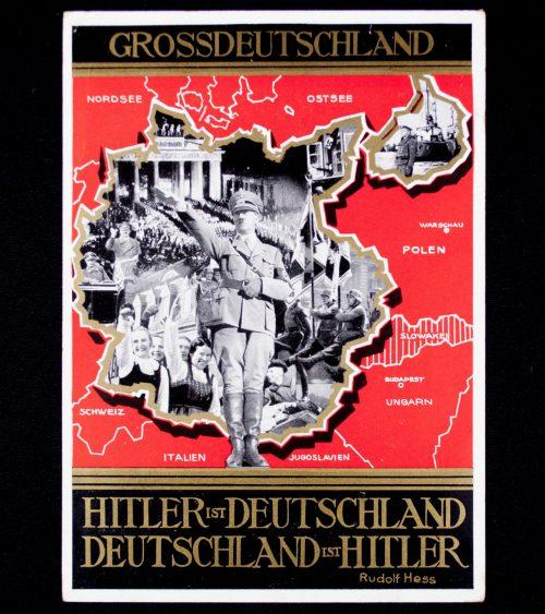 Postcard: Grossdeutschland - Hitler ist Deutschland, Deutschland ist Hitler (Rudolf Hess)