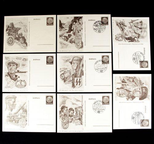 Postcard: Im Kampf um die Freiheit complete series by artist Axster Heudtlaß