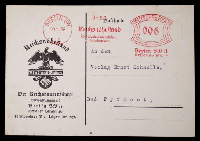 Postcard: Reichsnährstand Der Reichsbauernführer