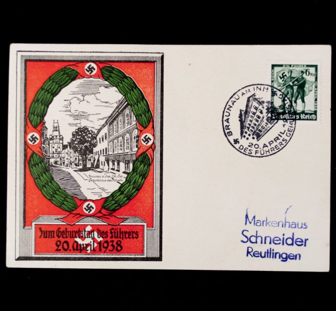 Postcard: Zum Geburtstag des Führers 20 April 1938