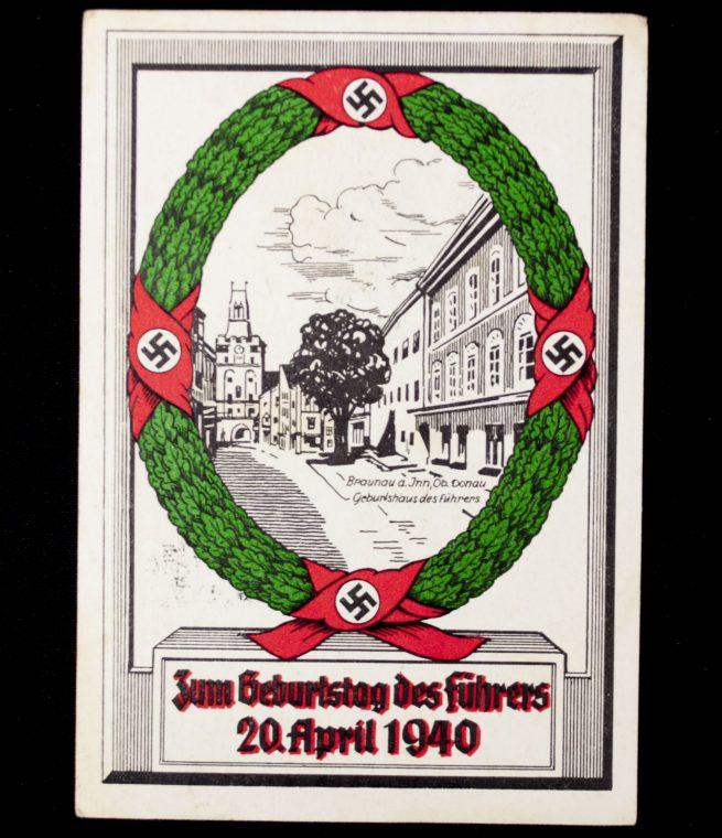 Postcard: Zum Geburtstag des Führers 20 April 1940