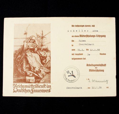 Reichsmütterdienst im Deutschen Frauenwerk - Mütterschulungs-Lehrgang citation