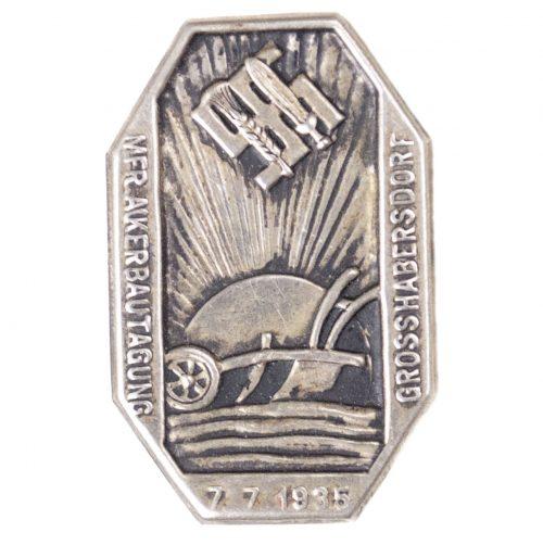 Reichsnährstand MFR. Ackerbautagung Grosshabersdorf 7.7.1935 abzeichen