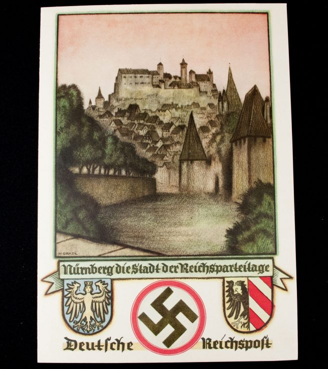 Reichsparteitag 1937 Telegram with enveloppe (Nürnberg die Stadt der Reichsparteitage)