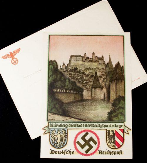 Reichsparteitag-1937-Telegram-with-enveloppe-Nürnberg-die-Stadt-der-Reichsparteitage