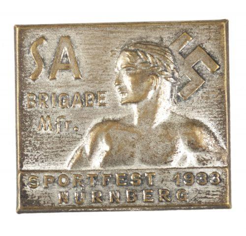 SA Brigade Mittelfranken Sportfest 1933 Nürnberg abzeichen